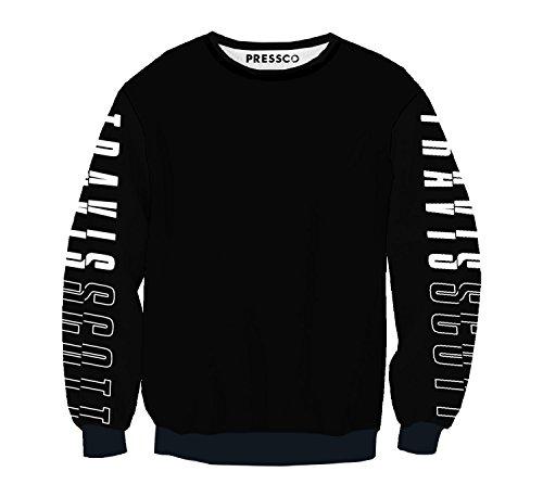 MYMERCHANDISE Travis Scott Sleeves Print Rapper Fullprint Alloverprint Unisex Sweater Crewneck Full Print All Over Print Sweatshirt Birthday Gift Daily Wear Men's Women's Unisex LG - Ryan Rapper