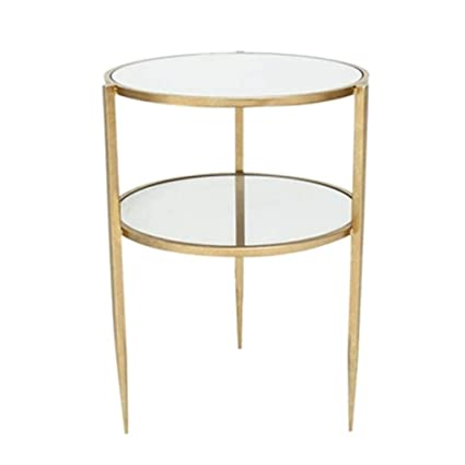 Wrought Iron Round Table.Amazon Com Coffee Tables Household Double Round Table Metal Wrought
