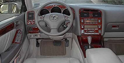 Awesome LEXUS GS 300 400 GS300 GS400 INTERIOR BURL WOOD DASH TRIM KIT SET 1998 1999  2000