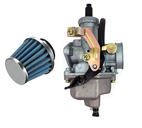 Auto-Moto NEW Carburetor & Air Filter For HONDA TRX 200 TRX200 4 Wheeler Quad 1984 Carb (1Carburetor+1Air filter)