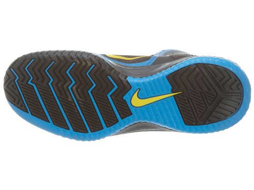 c6f3e0037bfb Men s Nike Zoom Hyperfranchise XD Basketball Shoe Blue Platinum Yellow Size  11.5