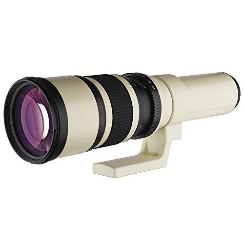 Oshiro 500mm f/6.3 LD UNC AL Super Telephoto Lens for Canon EOS 80D, 70D, 60D, 60Da, 50D, 40D, 30D, 1Ds, Mark III II, 7D, 6D, 5D, 5DS, Rebel T6s, T6i, T6, T5i, T5, T4i, T3i and T3 Digital SLR Cameras by Oshiro