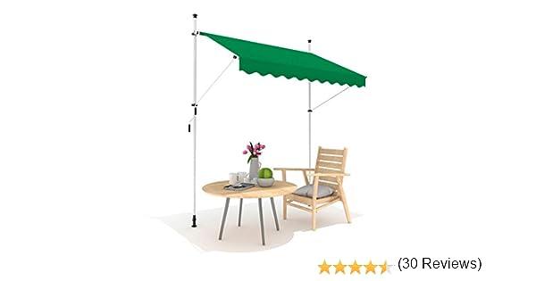 3m Toldo Portátil de Balcón Manual de Color Verde: Amazon.es: Jardín