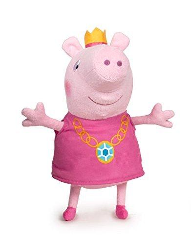 Peppa Pig - Peppa con Corona de Princesa 44cm - Calidad super soft - Peluche - Ouast: Amazon.es: Juguetes y juegos