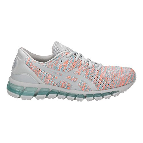 Asics Damen Gel-Quantum 360 Strickschuhe Glacier Grey/Orange Pop/Aruba Blue