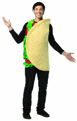 Rasta Imposta Lightweight Taco Costume, Multi-Colored, One Size ()