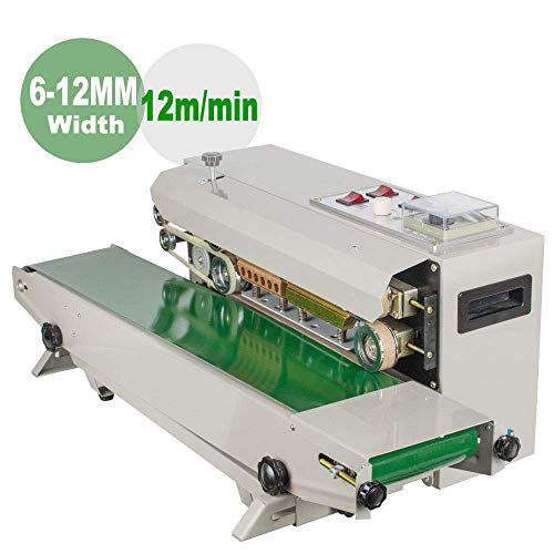 Zinnor Automatic Horizontal Continuous Plastic Membrane Bag Film Band Sealing Sealer Machine PVC Auto Shipping from US,3-7 Days delivery