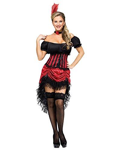 Fun World Women's Saloon Gal Costume, Multi, Small/Medium