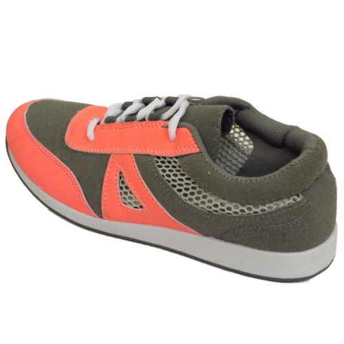 Ladies Girls Grey Casual Gym Sports Running Jogging Trainers Shoes eVFc4v