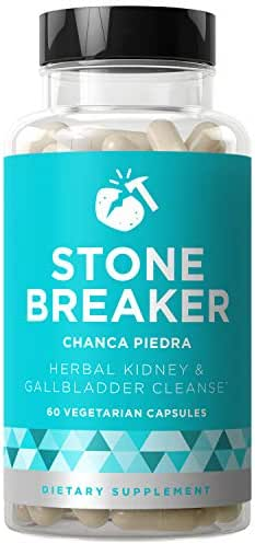 Stone Breaker Chanca Piedra - Natural Kidney Cleanse & Gallbladder Formula - Detoxify Urinary Tract, Flush Impurities, Clear System - Hydrangea & Celery Seed Extract - 60 Vegetarian Soft Capsules