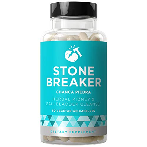 Stone Breaker Chanca Piedra - Natural Kidney Cleanse & Gallbladder Formula - Detoxify Urinary Tract, Flush Impurities, Clear System - Hydrangea & Celery Seed Extract - 60 Vegetarian Soft Capsules ()