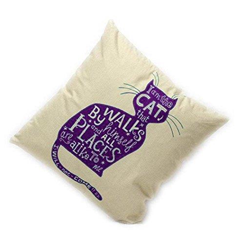Pillowcase, Ammazona Sofa Bed Home Decor Purple Cat Pillow Case Cushion Cover