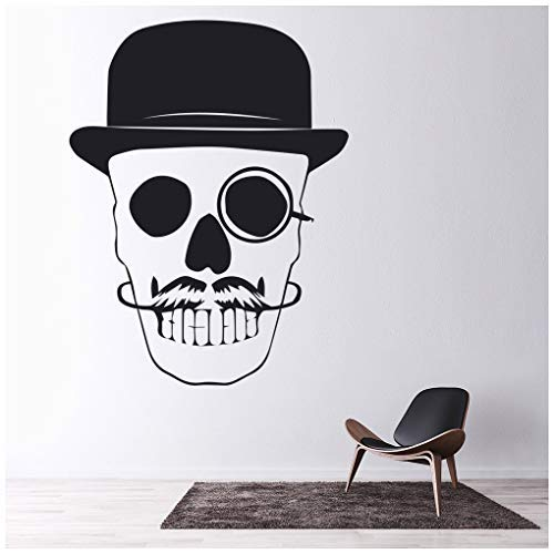 banytree Skull & Hat Wall Sticker Halloween Wall Decal Spooky Kids Home Decor -