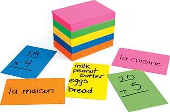 Hygloss Products Inc. HYG42317 Bright Flash Cards 2X3 from Hygloss