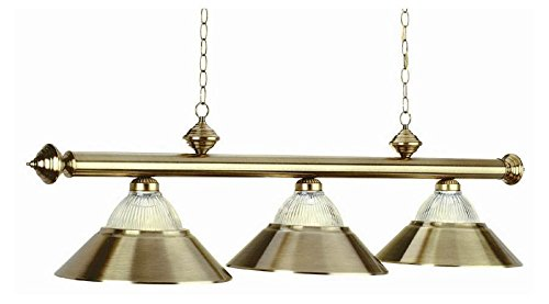 Ram Chandelier Chrome (54 Inch 3 Bulb Modern Pool Table Chandelier Light in Antique Brass (Burgundy))