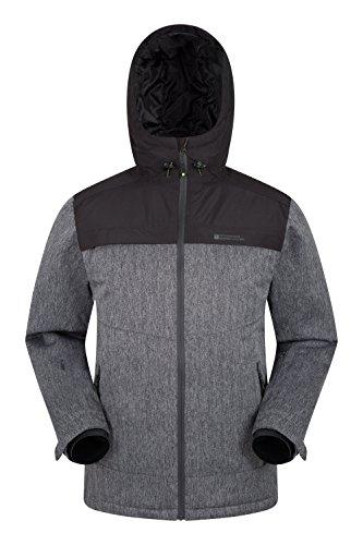 Mountain Warehouse Saturn Mens Ski Jacket -Waterproof Winter Raincoat Charcoal Medium