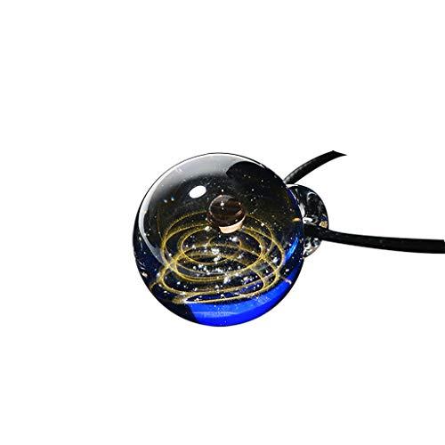 Finedayqi  Universe Coloured Glaze Heart Shaped Starry Sky Glass Ball Necklace Features