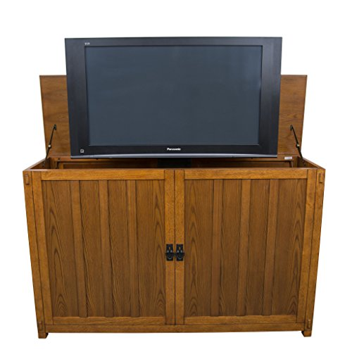 vate TV Lift Cabinets for TVs Up to 65' Wide (Mission Oak) ()