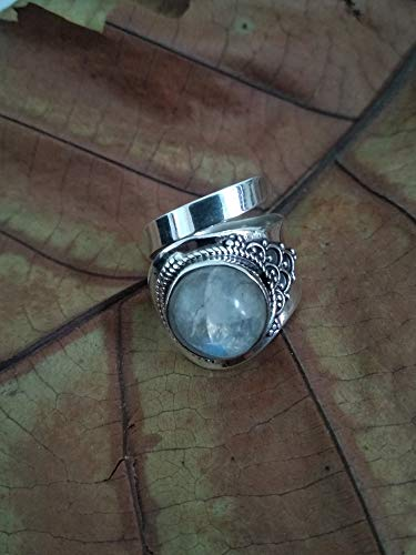 cubic zirconia handmade ring wedding ring party wear ringmother day gift mother day gift925 STERLING SILVER moonstone
