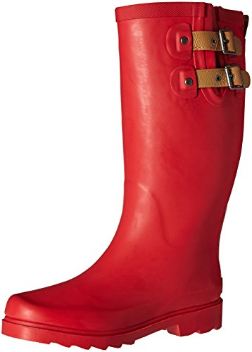 Chooka Women's Tall Rain Boot, Red, 7 M US
