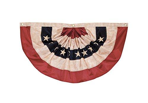 Fan Bunting - In the Breeze Pleated Fan Americana Bunting, 1.5' x 3'