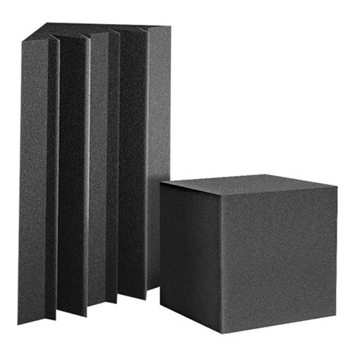Auralex Lenrd Bass Traps - Auralex ATOM12CHA ATOM-12 Bass Trap Kit: 12- LENRD Bass Traps 12x12x17 Triangular and 2' Long in Charcoal; 4- CornerFill 12x12x12 Cubes in Charcoal
