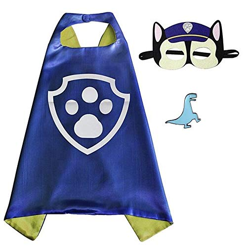 Superhero Cape and Mask Costume for Kids with Pin (Chase)