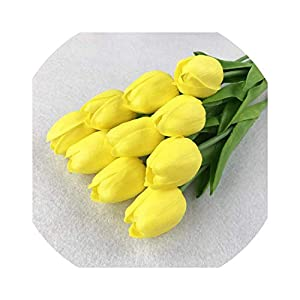 11Pcs/31Pcs Pu Artificial Tulip Flower Real Touch DIY Wedding Decoration Flowers Bouquet for Home Party D 35