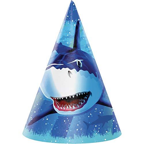 Shark Splash Party Hats, 24 ct
