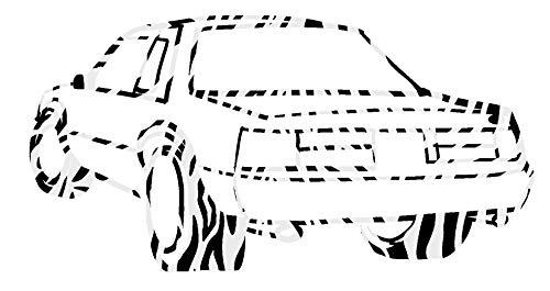 hBARSCI Sports Car Vinyl Decal - 5 Inches - for Cars, Trucks, Windows, Laptops, Tablets, Outdoor-Grade 2.5mil Thick Vinyl - Zebra Print