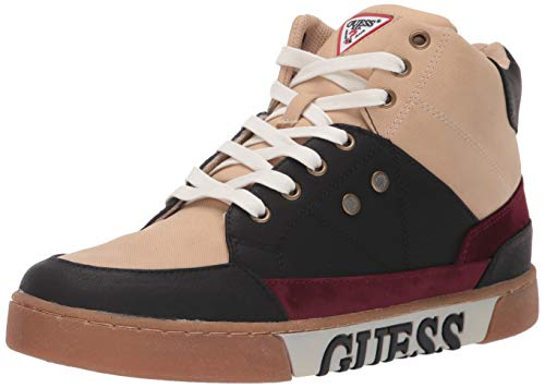 - GUESS Men's Annex Sneaker, Beige Multi Fabric, 9 M US