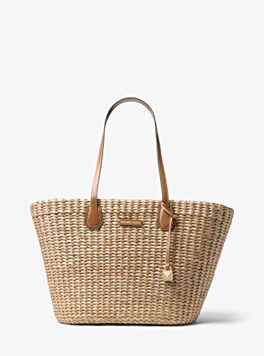 Michael Kors Malibu Large Woven Straw Natural Acorn Tote Bag ()