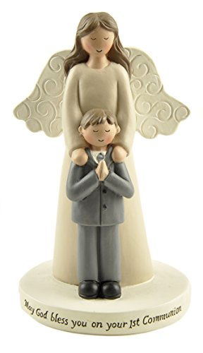 (Blossom Bucket First Communion BOY/Angel ON Base Home décor)