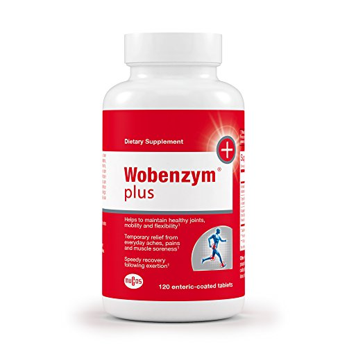 Wobenzym - Wobenzym Plus - Number One Joint Health Pill in Germany*, Supports Joint Function, Muscles and Recovery after Exertion - 120 Enteric-Coated (Enteric Coated Drugs)