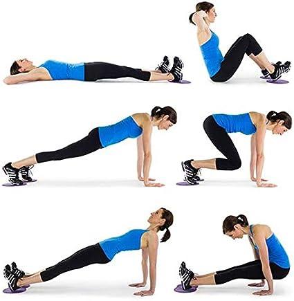 ZREAL 2/pi/èces Core disques coulissantes Slider Fitness Disc Exercice Plaque coulissante pour Gym Yoga Entra/înement Abdominale