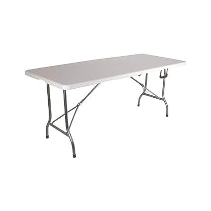 Grande table de jardin pliante 8 pers Blanc