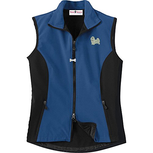 Maltese Ladies' High Tec Vest, Bone Zipper Pull and Embroidered image