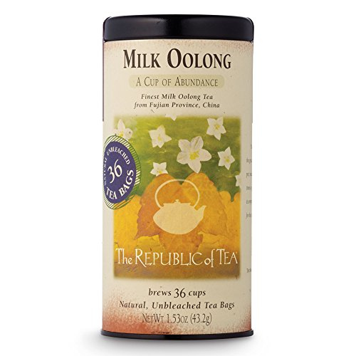 The Republic Of Tea Milk Oolong Tea, 36 Tea Bag Tin