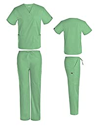 DSF Medical Uniform Women Men Scrub Set Top and Cargo Pants 1836