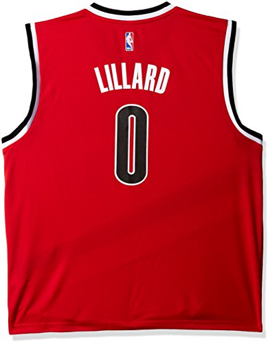 NBA Men's Portland Trail Blazers Damian Lillard Replica Player Home Jersey, 2X-Large, Red