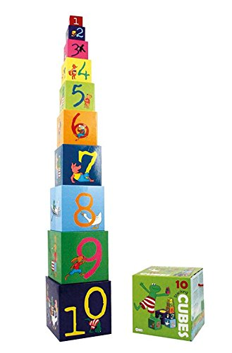 Barbo Toys - 7750 - Frog and Friends Stacking Cubes Puzzle ()