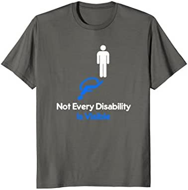 Invisible Disability Stick Figure Wheelchair Tee Shirt