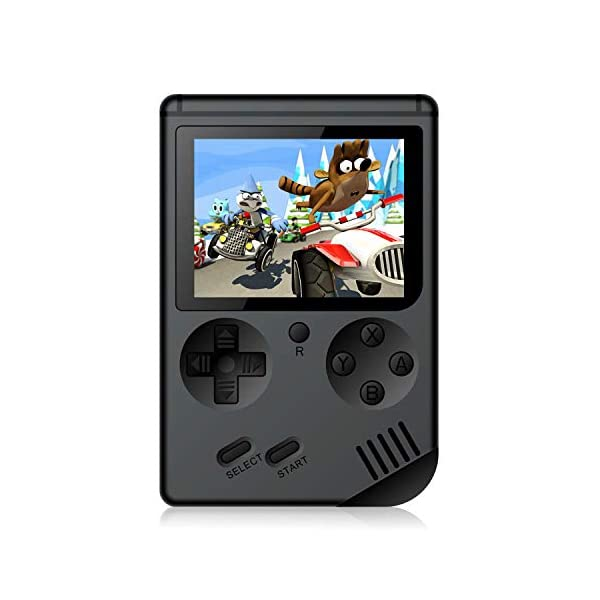 Chilartalent Handheld Games Console for Kids Adults – Retro Video Games Consoles 3 inch Screen 168 Classic Games 8 Bit Game Player with AV Cable Can Play on TV