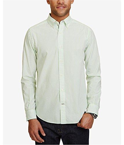 - Nautica Men's Long Sleeve Vertical Stripe Button Down Shirt, Patina Green, Large