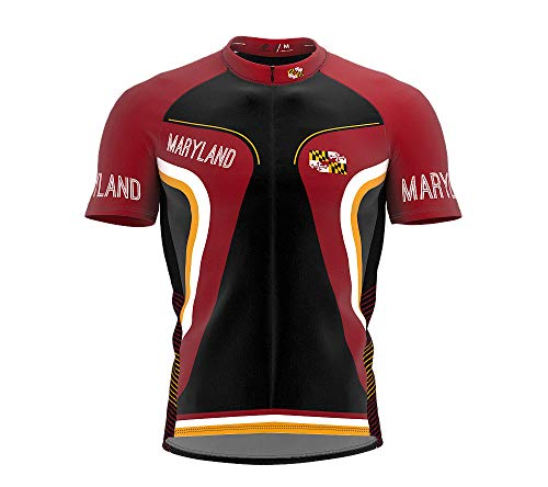 Jersey Cycling Maryland - ScudoPro Maryland Bike Short Sleeve Cycling Jersey for Men - Size XL