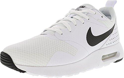 Nike Air Max Tavas Blanc / Noir Cheville Chaussure De Course - 7.5m
