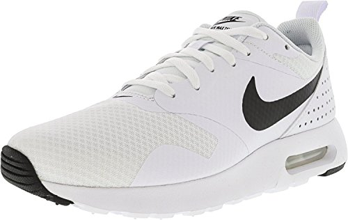NIKE Women's Air Max Tavas White/Black Ankle-High Running Shoe - 9.5M