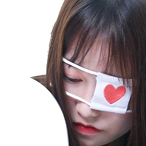 TOMORI Anime Cosplay Eye Mask Japanese Animate Costumes Accessory Schoolgirl Eyeshade (White)