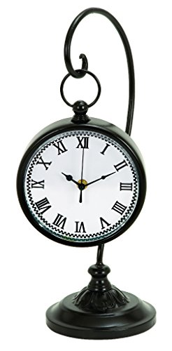 Deco 79 Metal Clock, 16 by 7-Inch, Black by Deco 79