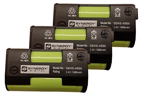 Synergy Digital Cordless Phone Batteries - Replacement for Sennheiser BA2015 Cordless Phone Battery (Set of 3) by Synergy Digital